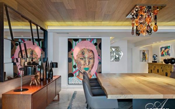 designer neu gestaltetes apartment atlantisch ozean kunst