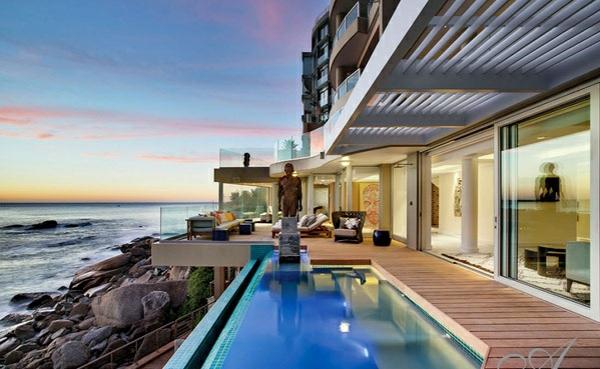designer neu gestaltetes apartment atlantisch ozean pool
