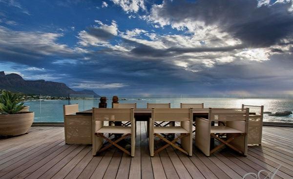 designer neu gestaltetes apartment atlantisch ozean terrasse