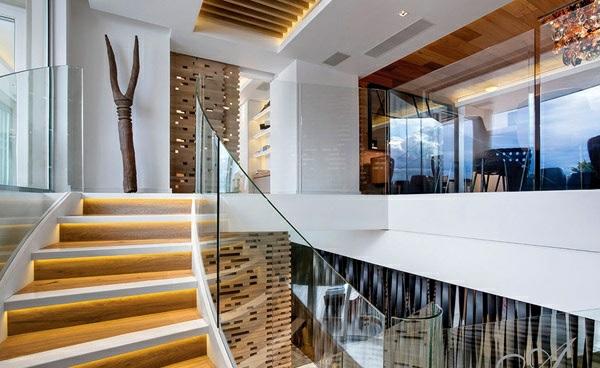 designer neu gestaltetes apartment atlantisch ozean treppenhaus