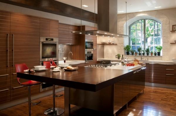die alte küche renovieren holz-bodenbelag eingebaut küchenschrank