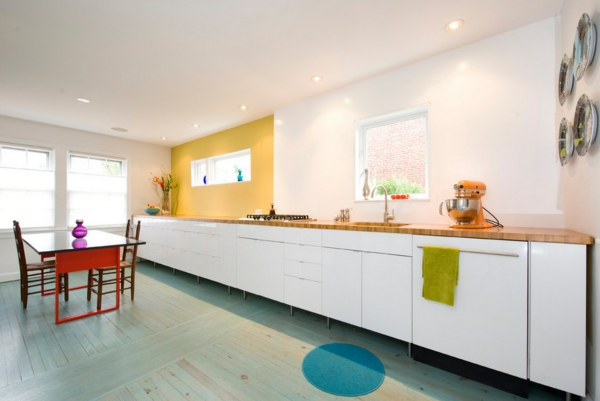 die alte küche renovieren weiße küchenschrank schubladen spüle