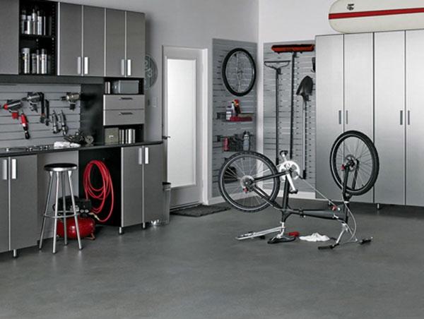die auto garage anordnen einrichtung tipps nützlich organisation
