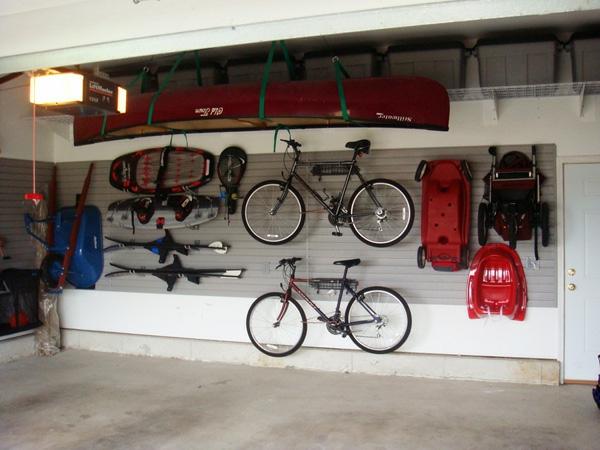 die auto garage anordnen einrichtung tipps wand sport ausrüstung