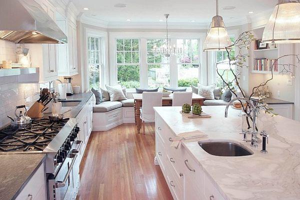 die küche preisgünstig renovieren holz bodenbelag groß raum