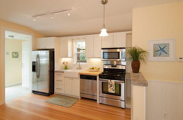 die küche preisgünstig renovieren holz bodenbelag weiß einrichtung