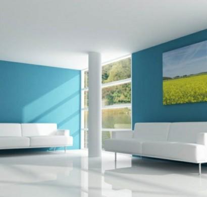 Wände Streichen Ideen Wohnzimmer: Ideen Zum Streichen Wohnzimmer ... Wohnzimmer Blau Streichen