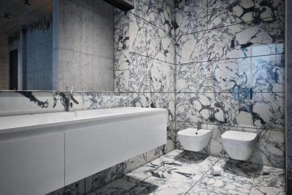 dynamische moderne interior design badezimmer spüle