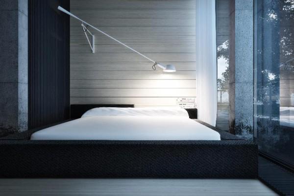 dynamische moderne interior designs dramatisches ambiente schlafzimmer