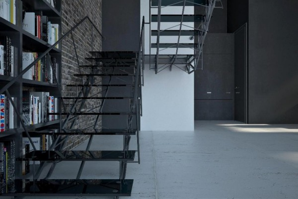 dynamische moderne interior designs dramatisches treppenhaus