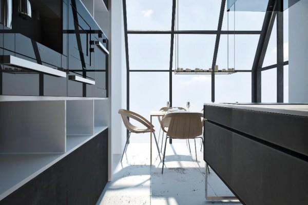 lebhafte interior designs fenster holz tisch