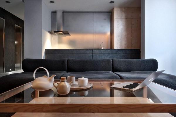 innovative interior designs sofa glas tischplatte