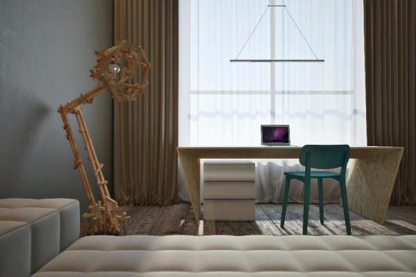 originelle interior designs stehlampe gardinen