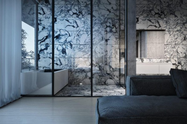 dynamische moderne interior designs trennwand glas