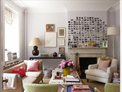 wand dekoration mit bildern - 29 kunstvolle wandgestaltung ideen - Ideen Wohnzimmerwand