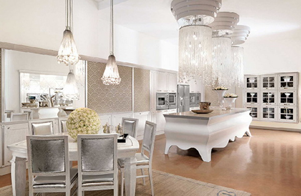 Elegante aussergewohnliche designer kuche von bummel entworfen for H ngelampen küche