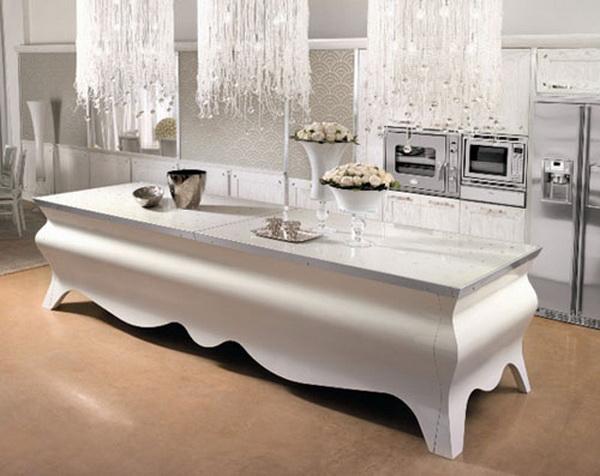 elegante außergewöhnliche designer küche arbeitsplatte schick