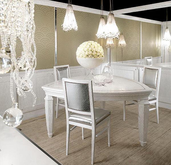 elegante außergewöhnliche designer küche esszimmer blumen