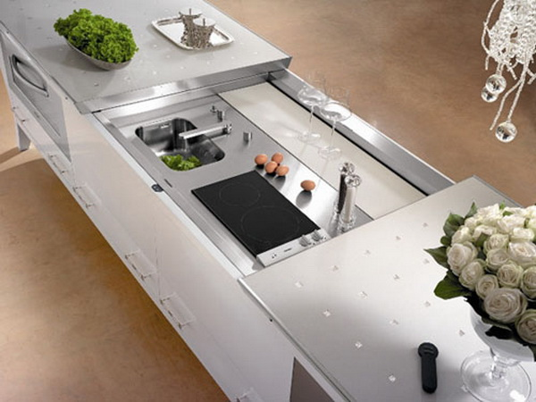 elegante außergewöhnliche designer küche spülen