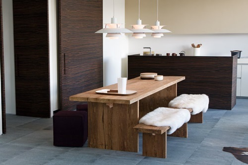 Elegante Trendy Esszimmer Möbel Massiv Holz