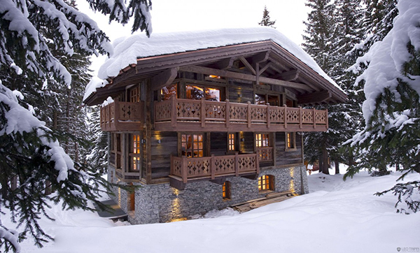 Elegantes bergh tte design in den alpen winter im skiort for Alpen design hotel