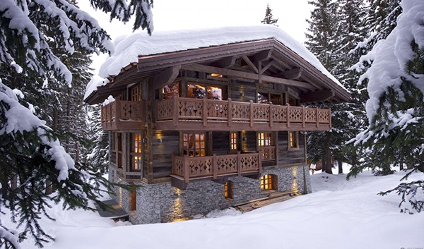 elegantes berghütte design frankreich alpen holz