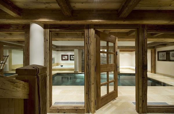 elegantes landhaus design pool schwimmbad