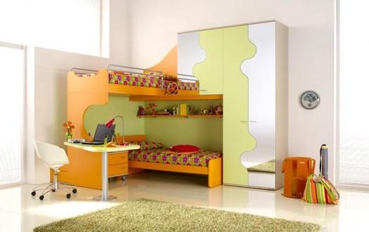 Ergonomische Kinderzimmer Designs für zwei Kleinkinder angebracht