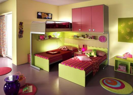ergonomische kinderzimmer designs f r zwei kleinkinder angebracht. Black Bedroom Furniture Sets. Home Design Ideas