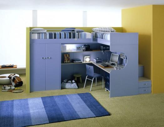 Ergonomische Kinderzimmer Designs Für Zwei Kinder Angebracht ...
