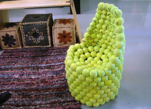 ergonomische nachhaltige Schreibtisch Stühle grün tennis ball hugh hayden