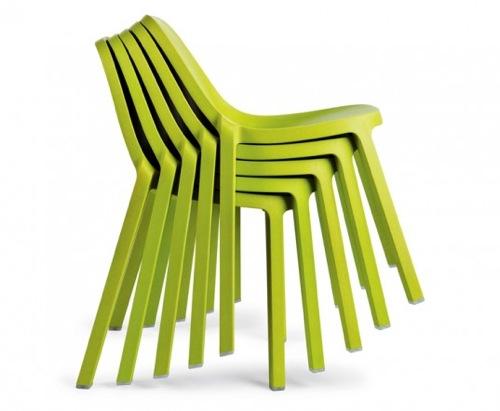 ergonomische nachhaltige Schreibtisch Stühle plastisch grün emeco philippe starck