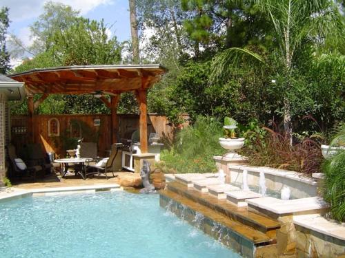 erholsames zuhause einrichten modern außenbereich pool