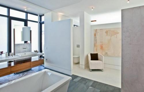 erholsames zuhause einrichten modern weiß badezimmer