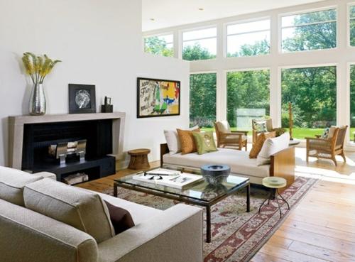 Erholsames Zuhause Einrichten Wohnzimmer Glas Tischplatte