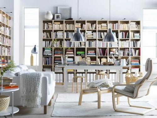 funktionale haus bibliotheken industriell stil