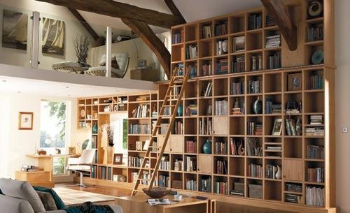tolle praktische haus bibliotheken wand regale holz