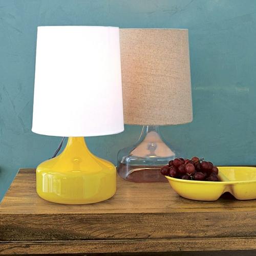 erstaunliche-trendy-lampen-ideen-gelb-glänzend