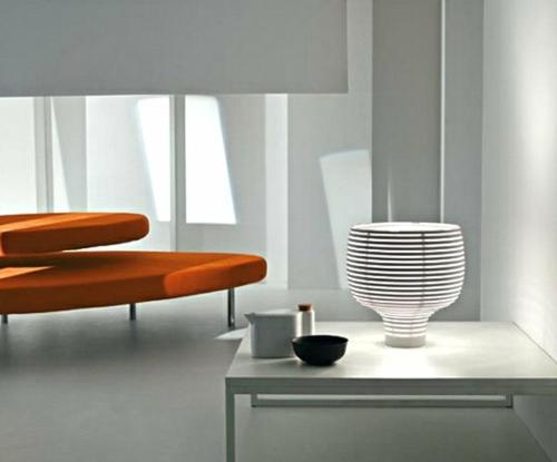 erstaunliche trendy lampen ideen orange möbelgarnitur sitzplatz