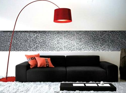 erstaunliche trendy lampen ideen rot freistehned modern stehlampe