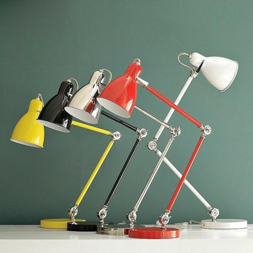 erstaunliche trendy lampen ideen rot schwarz gelb tischlampen