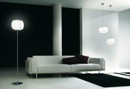 erstaunliche trendy lampen ideen stehlampe sofa