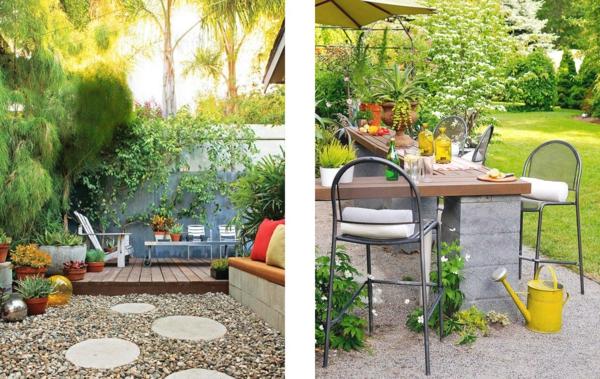 Extravagante attraktive outdoor Bereich Neugestaltung frisch natur