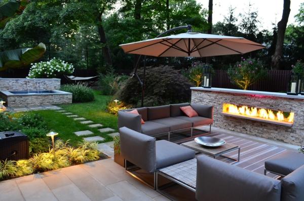 Extravagante attraktive outdoor Bereich Neugestaltung gartenmöbel feuerstelle