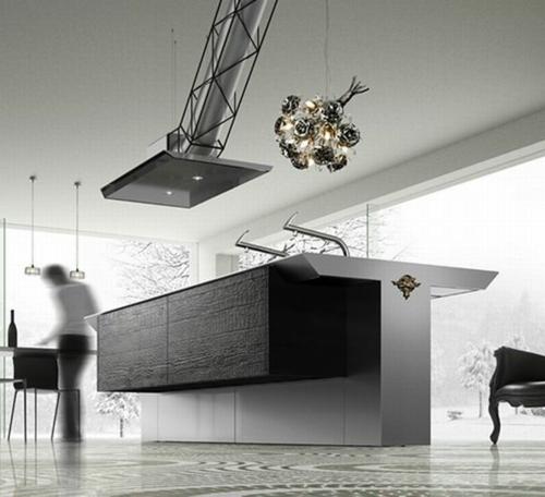 exzentrische schicke küchen möbel sammlung dunkel oberfläche