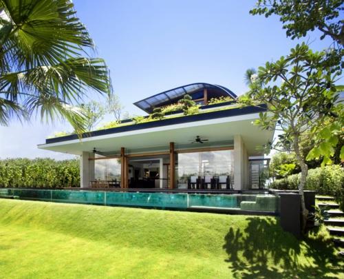 frischen dach garten modern architektur fassade