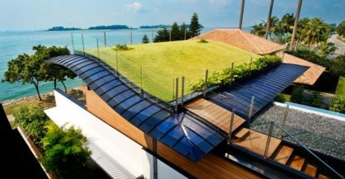 frischen dach garten gestalten architektur exotisch