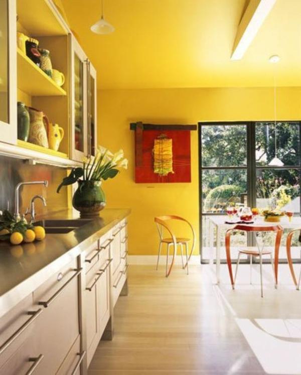 gelb gemalte küchen designs - nützliche, kreative tipps