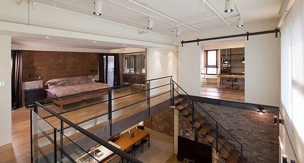 gemtliches schlafzimmer design im dachgeschoss einrichten holz bodenbelag - Dachgeschoss Schlafzimmer Einrichten