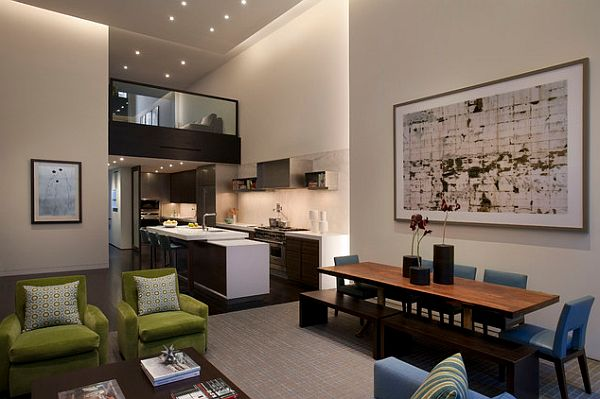 gemütliches schlafzimmer  design im dachgeschoss essbereich holz tisch